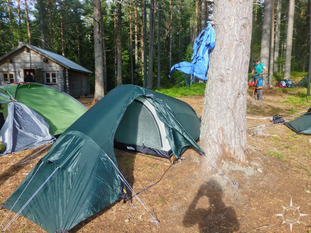 Campen auf Tärnättholmarna