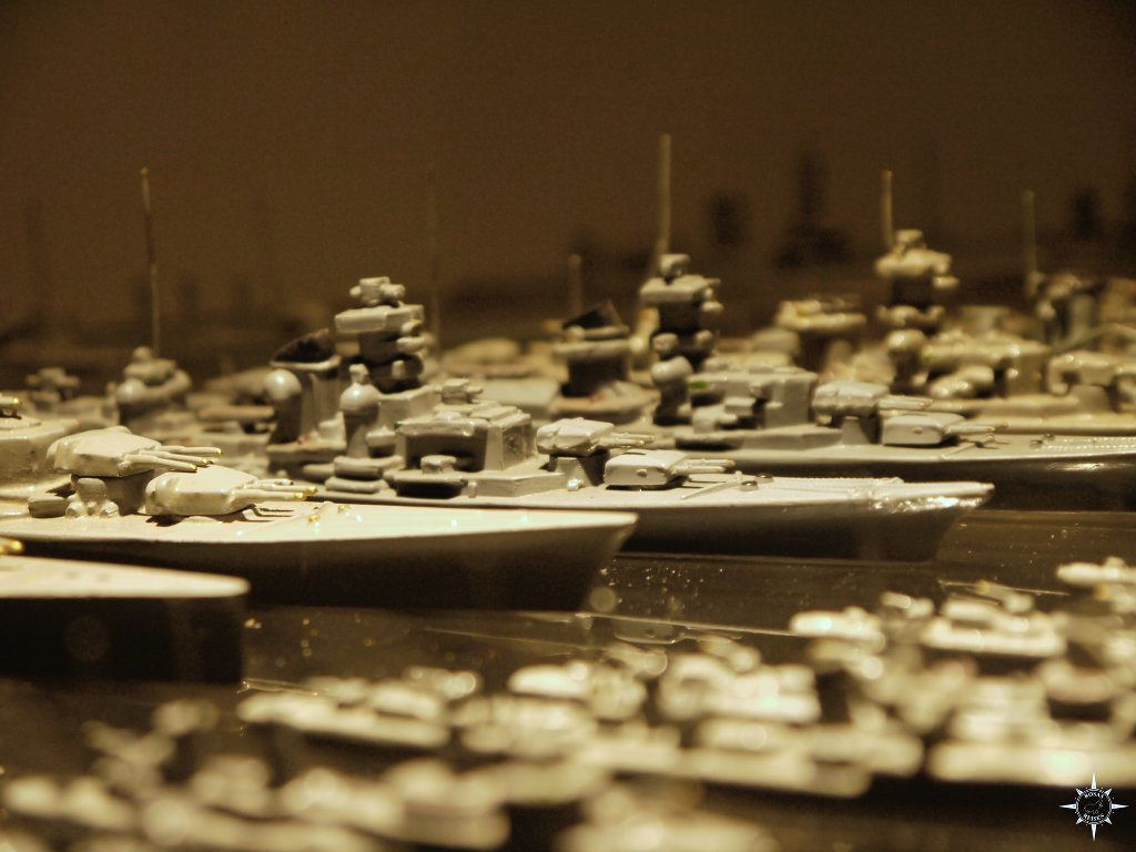Miniaturmodellschiffe auf Deck 9