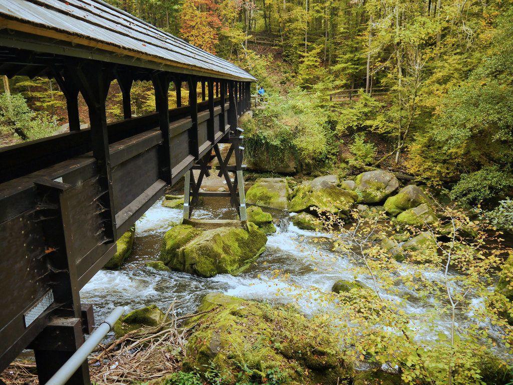 Holzbrücke an den Irreler Wasserfällen
