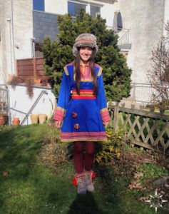 Samen Lappland Kostüm Karneval